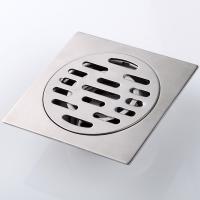卡仕图 304不锈钢防臭地漏 方形4寸浴室厨房卫生间普通防臭地漏