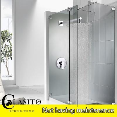 卡仕图暗装淋浴花洒套装 入墙式淋浴单花洒喷头 预埋盒淋浴套装